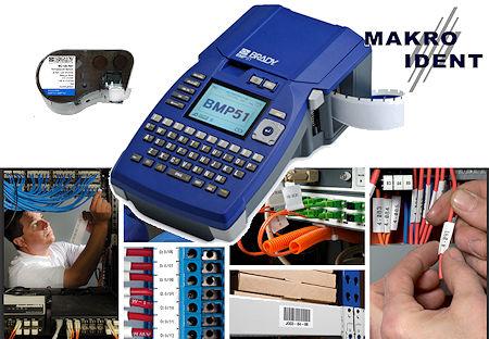 Brady BMP51 für Elektrik, Datenkommunikation und Sicherheitskennzeichnung