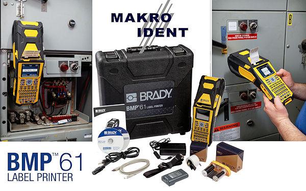 Brady BMP61: Tragbarer Hochleistungs-Etikettendrucker