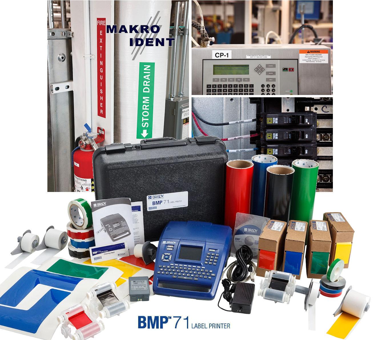 BMP71-Etikettendrucker Etikettendrucker Brady BMP71 für verschiedenste Kennzeichnungen