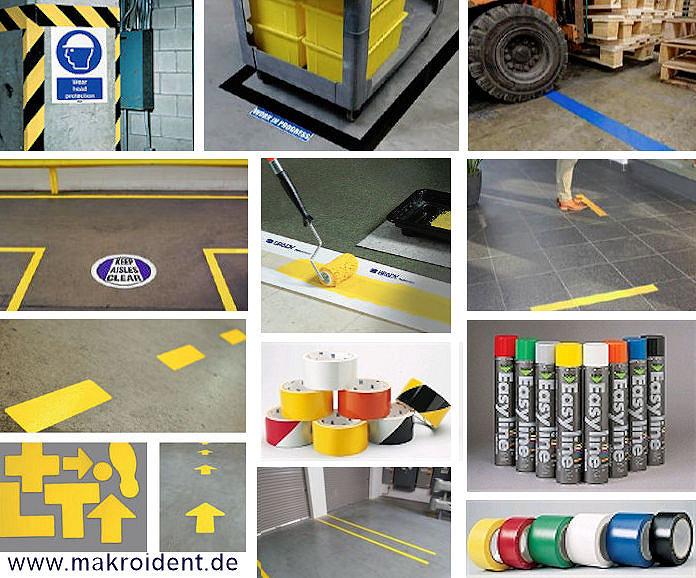 Bodenmarkierungen01 Zuverlässige Bodenmarkierungen und Bereichskennzeichnungen