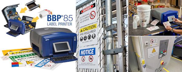Brady-BBP85-Schilderetikettendrucker Brady BBP85 Etiketten- und Schilderdrucker für die Arbeitssicherheit