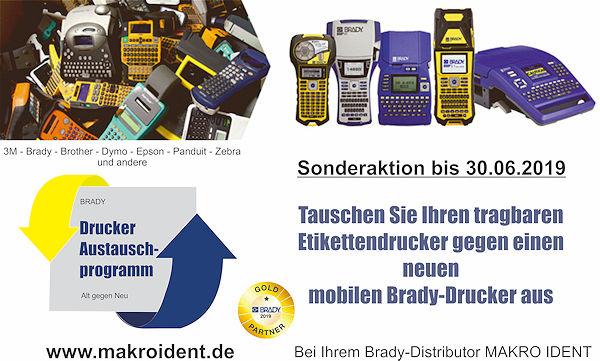Austauschaktion: Alter mobiler Drucker gegen Neugerät