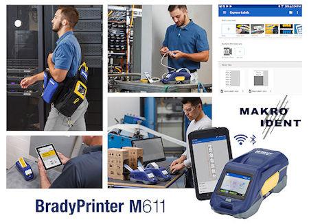 Industrietauglicher, tragbarer Etikettendrucker Brady M611