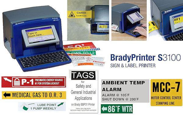 BradyPrinter S3100 für die Sicherheits- und Gebäudekennzeichnung