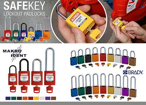 SafeKey-Schloesser Farbcodierte SafeKey Sicherheitsschlösser für Industrieunternehmen