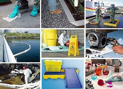 Ölbindemittel, Bindevliese und Schutzmatten für Chemikalien und andere Flüssigkeiten