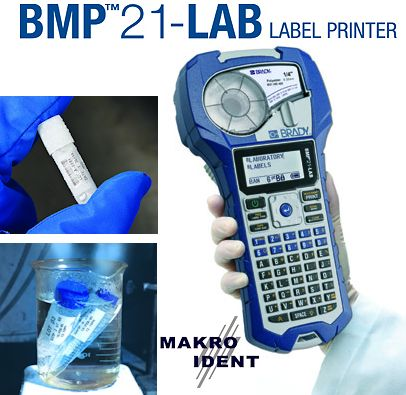 Laborbedarf: Tragbarer Etikettendrucker Brady BMP21-LAB