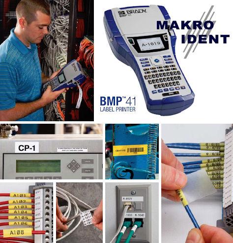 Etiketten für Brady BMP41 Etikettendrucker