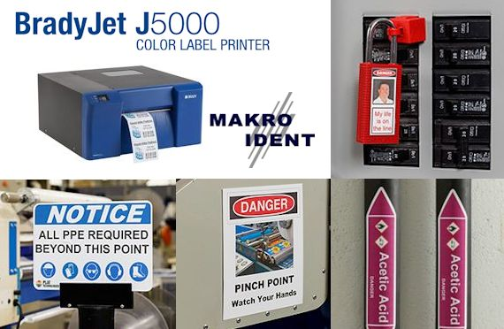 BradyJet J5000 Farbetikettendrucker für die Sicherheits- und Gebäudekennzeichnung