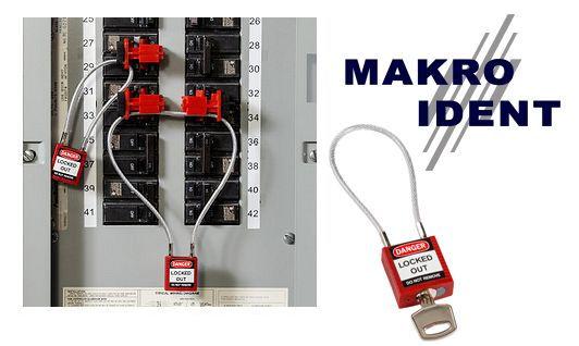 compactschloss-mit-kabel Sicherheitsschlösser mit Kabelbügel für Elektrik und andere Bereiche