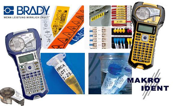 Etiketten für Brady-Drucker IDPal, LabPal und BMP21-Serie