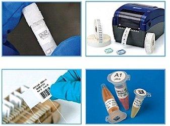 Laboretiketten für raue Laborbedingungen