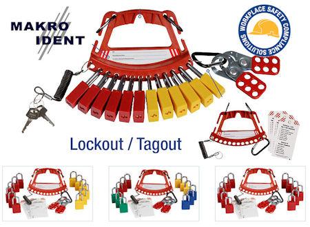 Trägersystem für eigene Sicherheitsschlösser, Blockierbügel und Anhänger