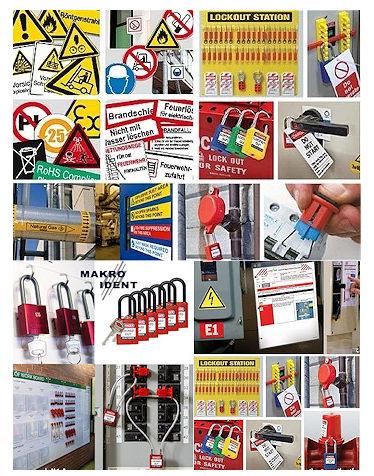 lockout-tagout-gesamtsortiment Lockout-Verriegelungen und Tagout-Sicherheitskennzeichnungen