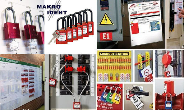 Lockout/Tagout Hard- und Software-Sortiment