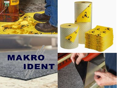 Sicherheitsmatten und Tücher für Öle, Säuren, Chemikalien und andere Flüssigkeiten